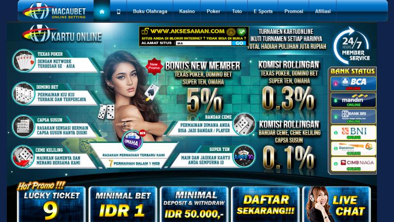 Macaubet Bandar Judi Bola, Live Casino Online